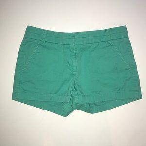 "J Crew 2"" Chino Shorts Green Sz. 0"